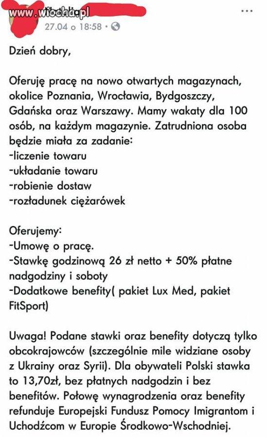 26 złotych netto + płatne nadgodziny