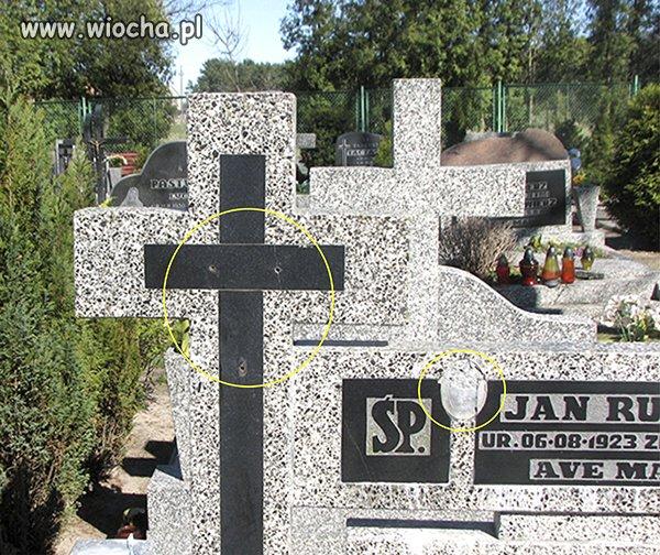 Żeby kraść krzyże z grobów...