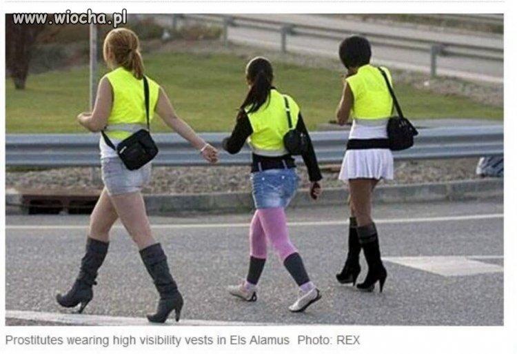 Odblaskowe kamizelki dla prostytutek