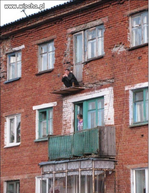 Posiedzieć na balkonie-to jest przeżycie!