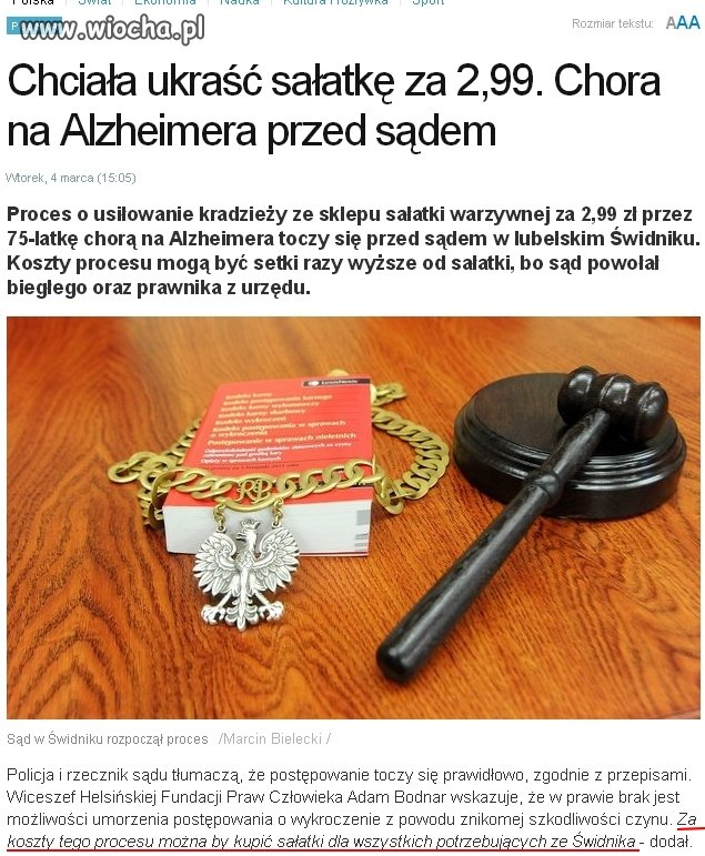 """Polski """"Wymiar Sprawiedliwości """"..."""