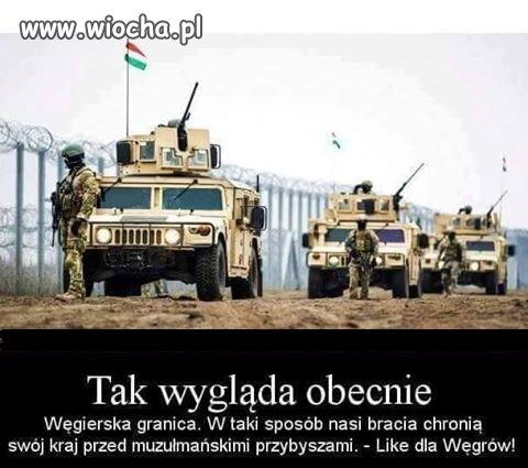 Węgry...tak się broni granic przed najeźdźcą