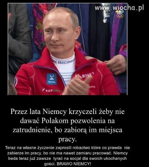 Niemcy krzyczeli Polacy zabiorą nam miejsca pracy