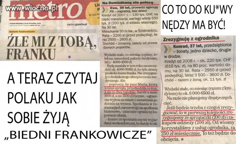 """Czytam Gazetkę. A tutaj... """"Biedni Frankowicze"""""""