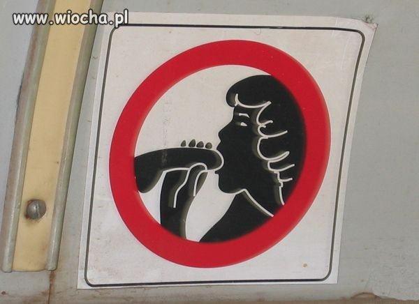 A tymczasem w autobusie kolejny zakaz...