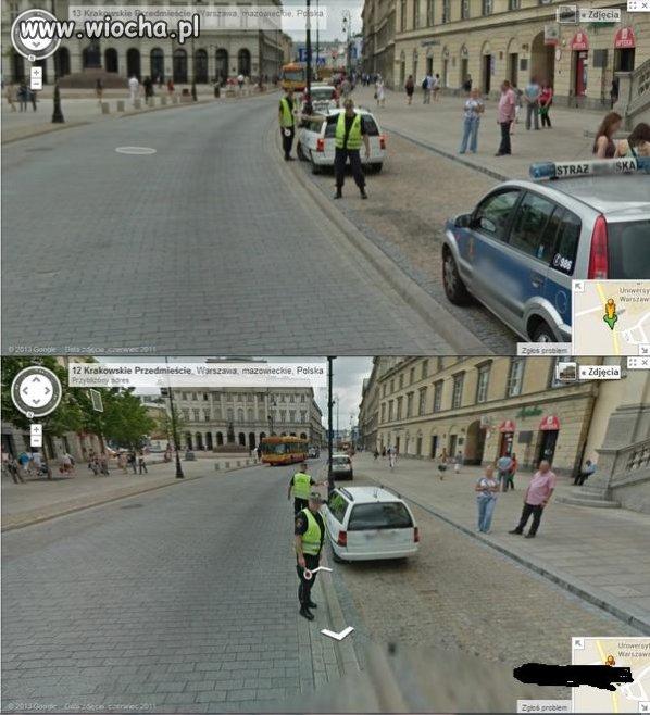 Straż miejska zatrzymała samochód Google