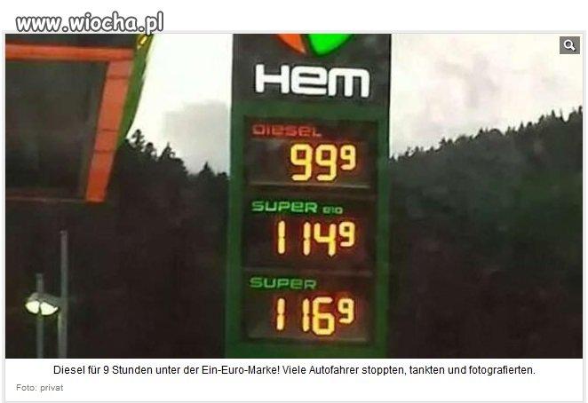 Nawet w Niemczech jest paliwo tańsze