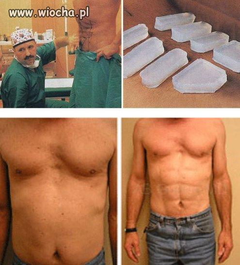 Silikonowe mięśnie brzucha