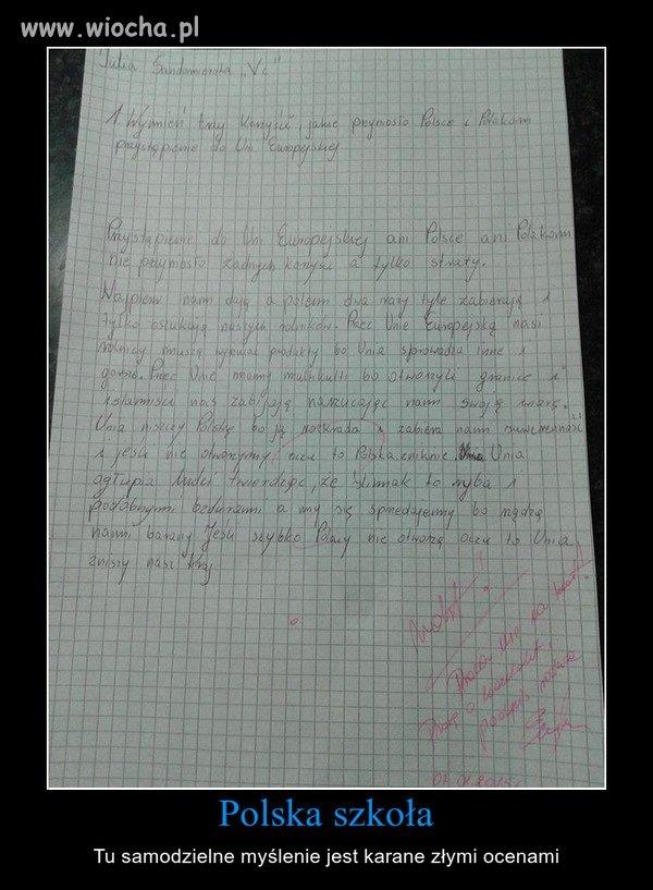 Polskie szkoły to fabryki lemingów/rurkowców.