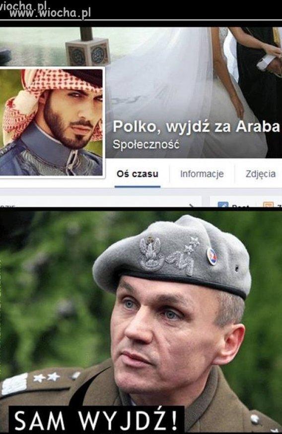 Polko wyjd� za Araba.