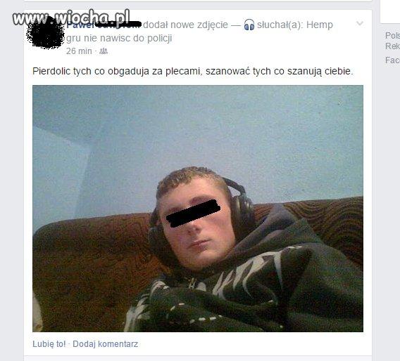 Prawilny Uliczniak prosto z gimnazjum
