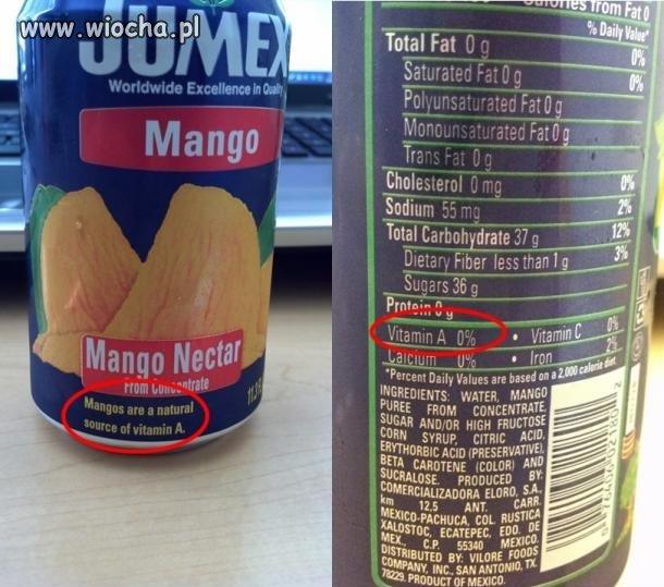 Mango naturalne �r�d�o witaminy A