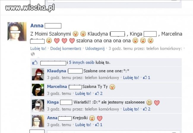 "Szalone ""krejzolki"" na FB."