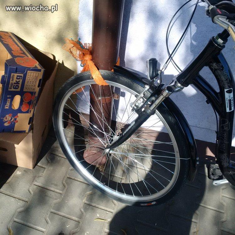 Blokada roweru.