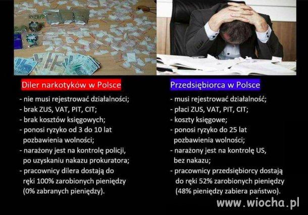 Diler ma łatwiej w Polsce niż przedsiębiorca