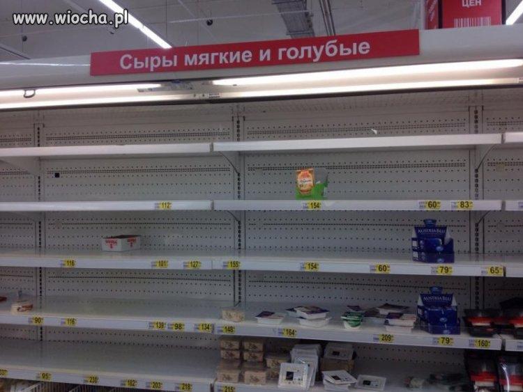 Dział z serami w rosyjskim supermarkecie (AUTENTYK)