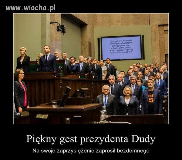 Piękny gest Prezydenta