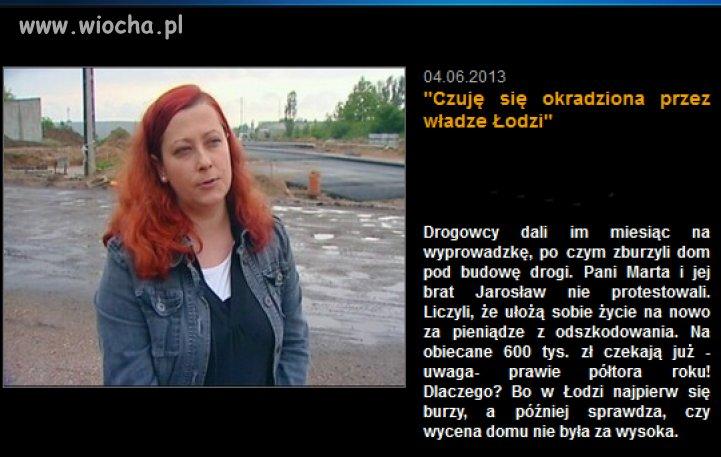 Okradziona przez władze Łodzi