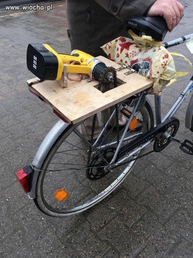 Chciał rower z napędem elektrycznym...