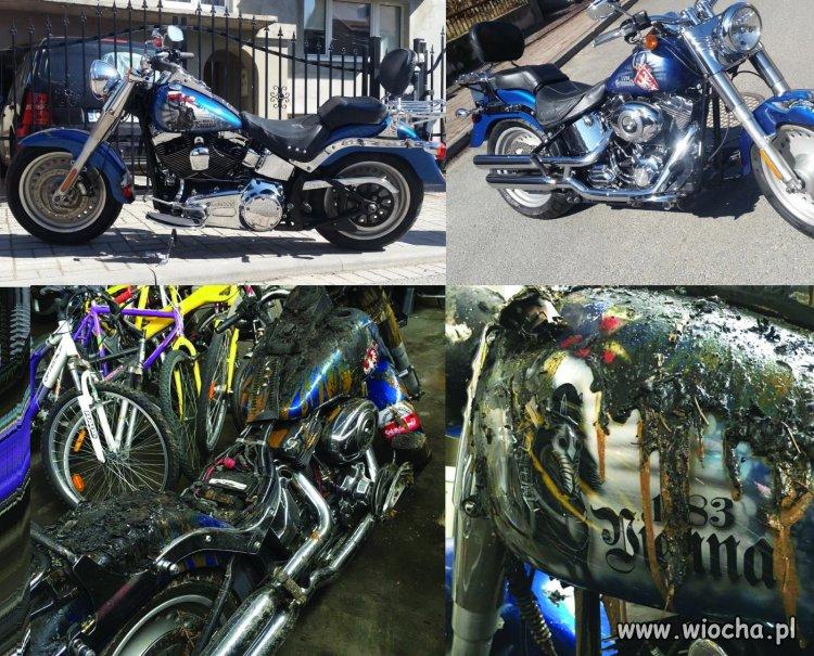 Muzułmanin podpalił Harleya z polskimi symbolami.