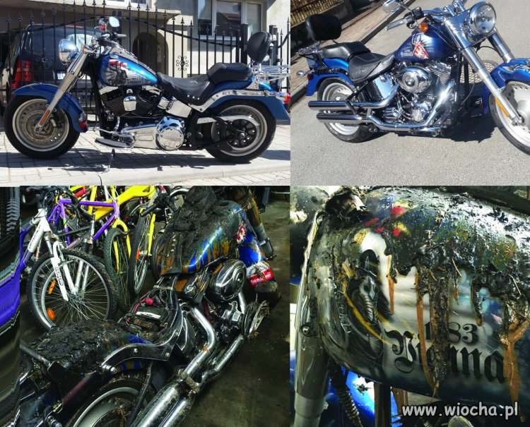 Muzu�manin podpali� Harleya z polskimi symbolami.