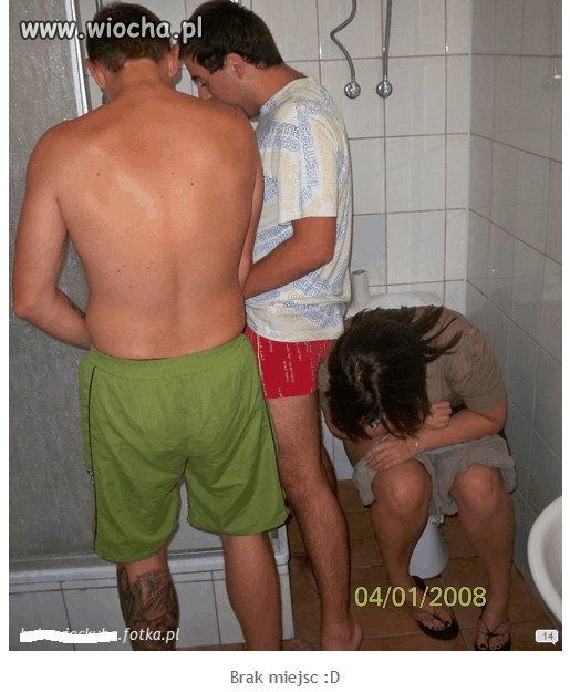 Trójkącik w toalecie.