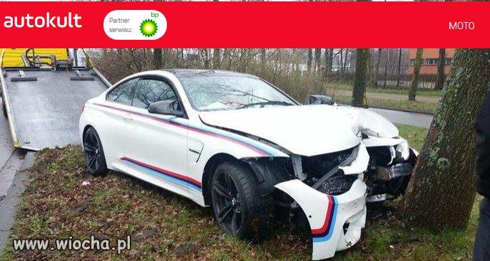 Mechanik rozbił BMW  M4