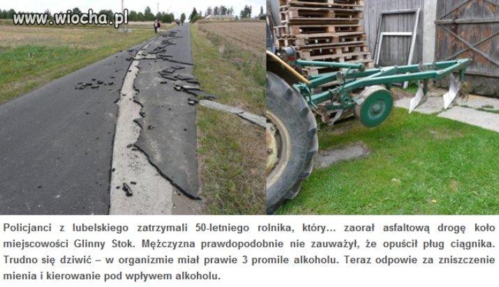 Liczył na dopłaty, za uprawę asfaltu?
