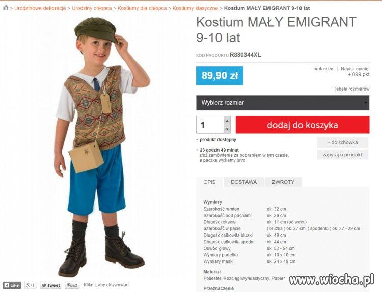 Może jeszcze kostium mały terrorysta?