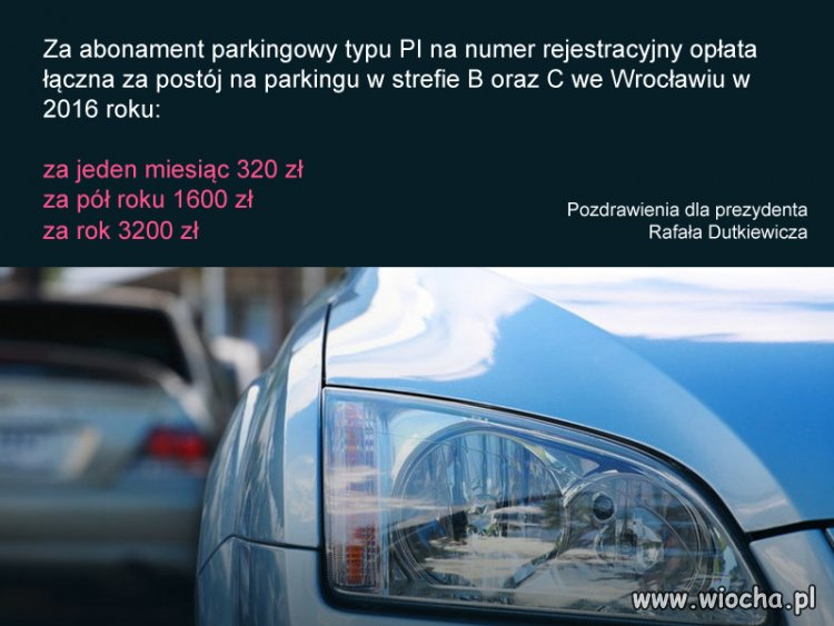 Parkingi płatne we Wrocławiu droższe niż w Austrii