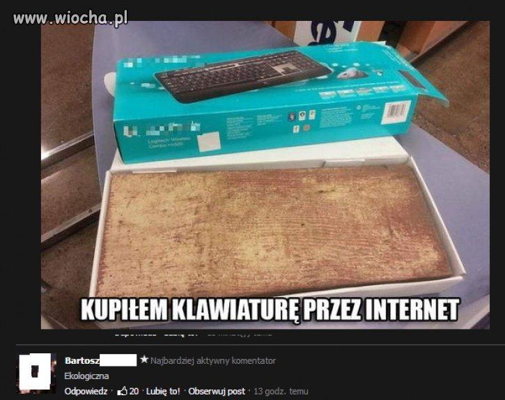 Kupiłem klawiaturę przez internet...