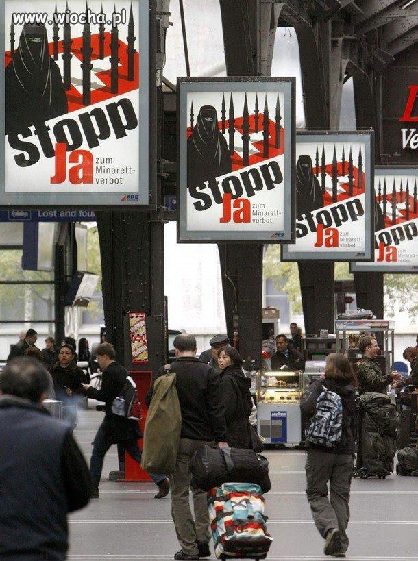 Ulice szwajcarskich miast. Plakaty wyborcze