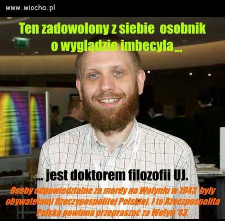 On jest doktorem filozofii UJ.