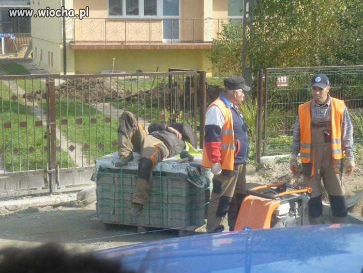 Polski robotnik w akcji