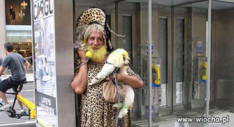 Gepard z pusią.