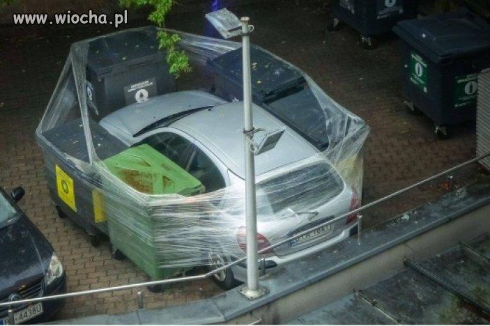 Bezpieczne miejsce parkingowe