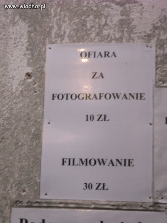 Ofiara za fotografowanie/filmowanie w kościele
