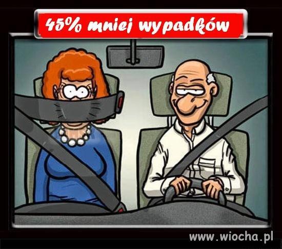 45% mniej wypadków