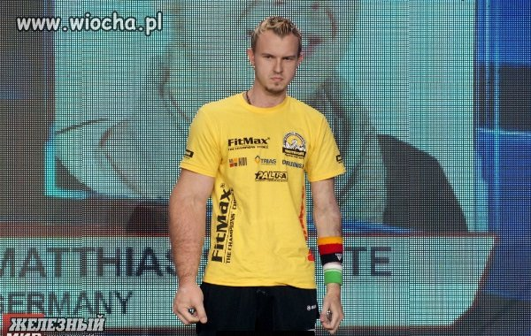 Matthias Schittle - mistrz świata w siłowaniu