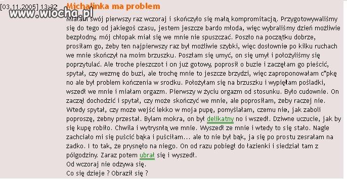 Michalinka ma problem