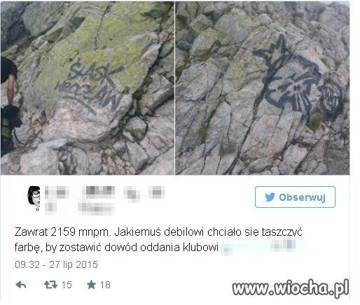 Kibole Śląska Wrocław dewastowali Tatry...