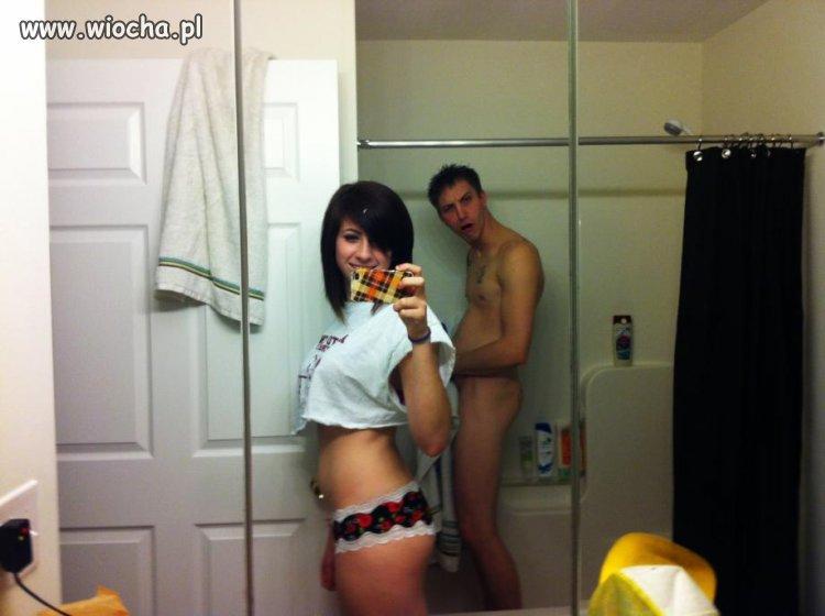 Sweet fotka w lustrze