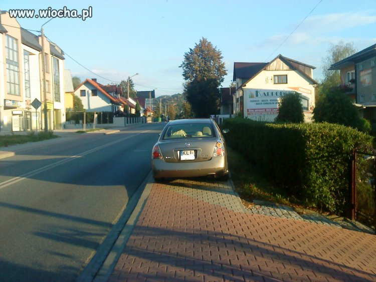 Karny ku**s za parkowanie Limanowa ul. Kościuszki