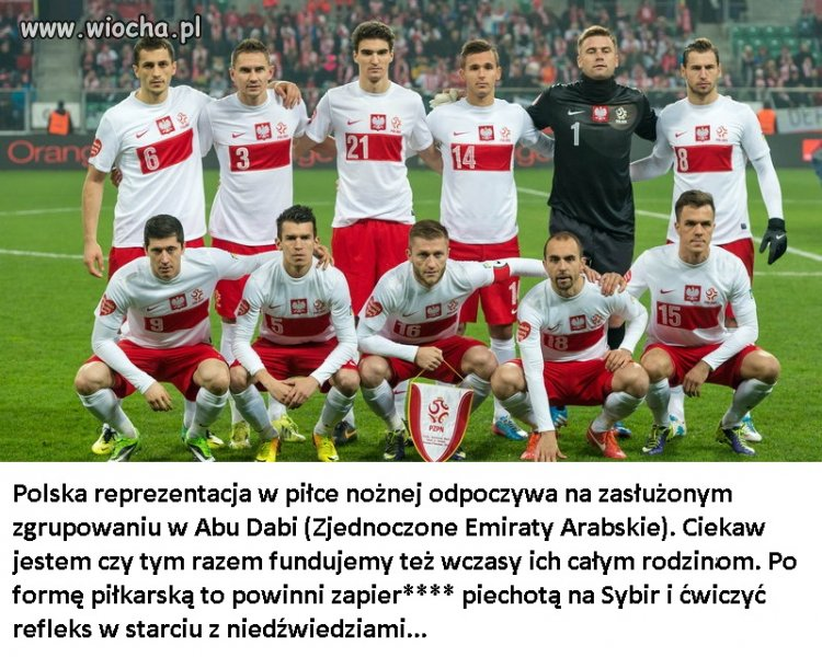 Zasłużone wakacje polskiej reprezentacji...