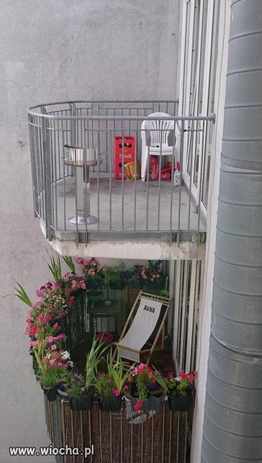 Balkon męski kontra balkon żeński