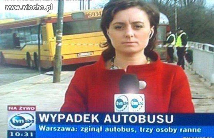 Wypadek autobusu...