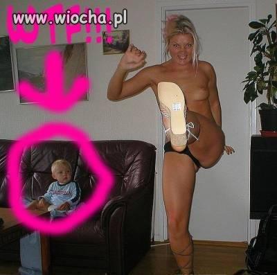 Oby dziecko nie wzięło przykładu z mamusi...