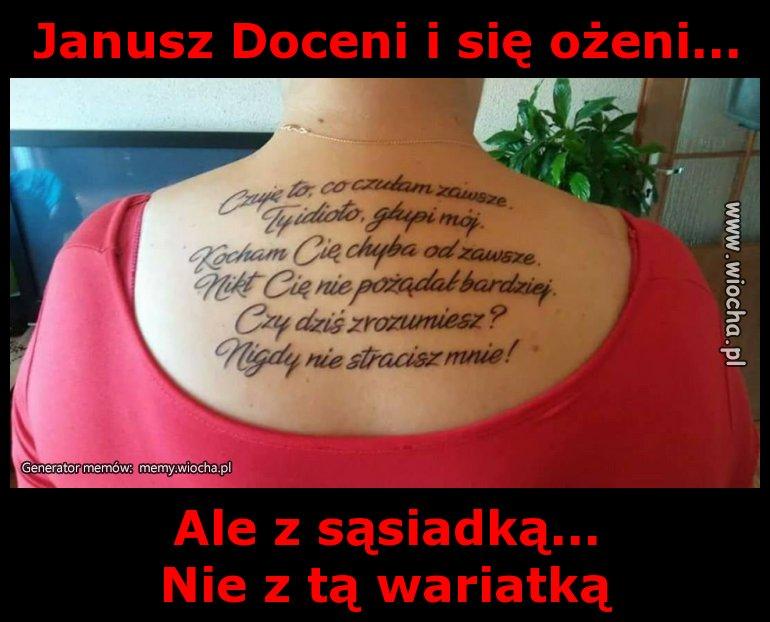Janusz Doceni i się ożeni...