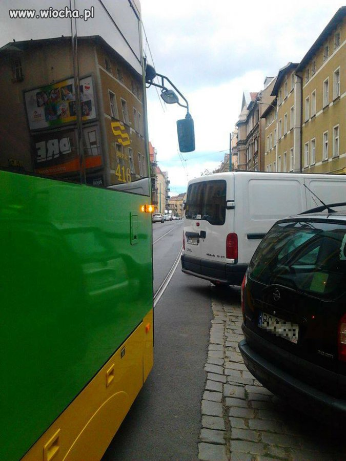 Znowu jakiś debil zablokował ruch tramwajowy...