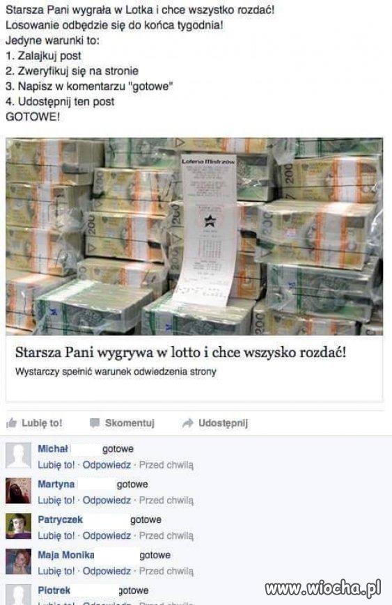 Na FB idiotów nie brakuje...